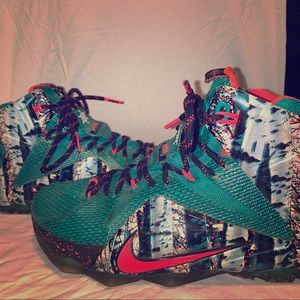 Lebron 12 Akron Birch X-Mas Edition